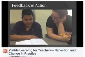 """""""We were intrigued by all of the different ways that we could offer feedback to our students,"""" shared Anna Casteen and HB Bruno (9th grade Inclusion Teacher and 9th grade Science Teacher) in their video presentation."""