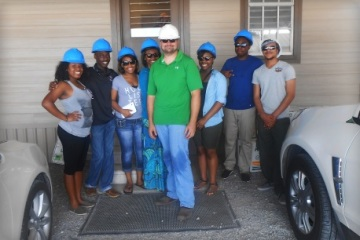 Students visit Scott Kessler at the Cora Texas Manufacturing Company in White Castle, Louisiana to learn first hand about sugar production.