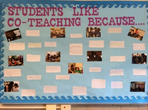 Students share reasons for supporting collaborative co-teaching strategies at Stone Scholastic Academy.