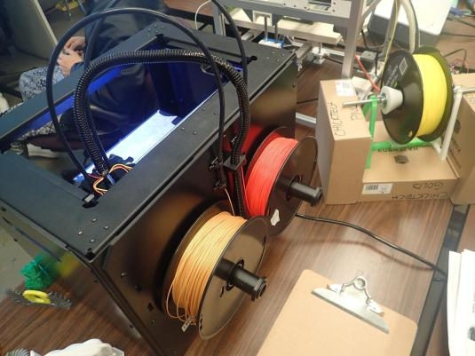This 3D Printer prints with heated plastic filament by creating geometric shapes in layers, Project Photo