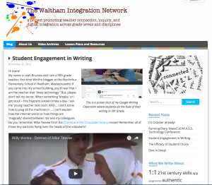 Teacher blogging strengthens teacher collaboration.