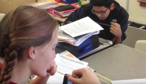 Classroom video helped teachers better understand the impact of new teaching strategies. Photo from project video.