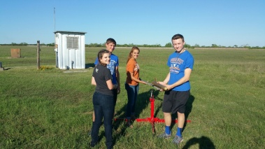 The Cloud Nine rocketry team preparing their rockets for competition in Washington, DC.