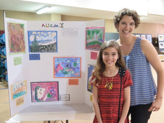 Students were able to share their art with friends and family at a school fine arts night.
