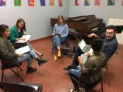 Student director guides professional actors