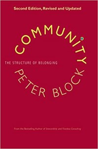 Photo of the book Community by Peter Block