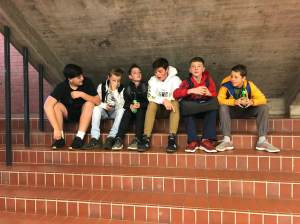 Photo of students collaborating